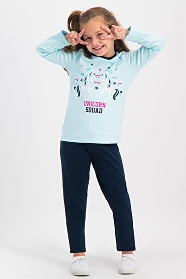 Roly Poly Kız Çocuk Pijama Takımı Yeşil